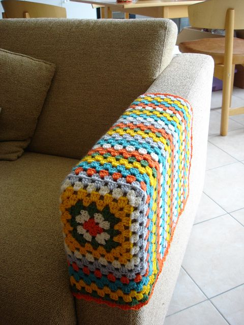 long sofa arm covers blue room brown granny squares, couch and squares on pinterest