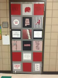Roll tide! College week at school door decoration. No