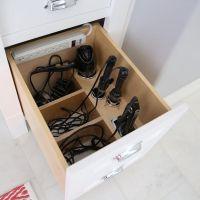 Amazing custom bathroom organizer for hair dryer and ...