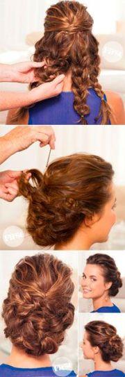easy updo beautiful braided bun