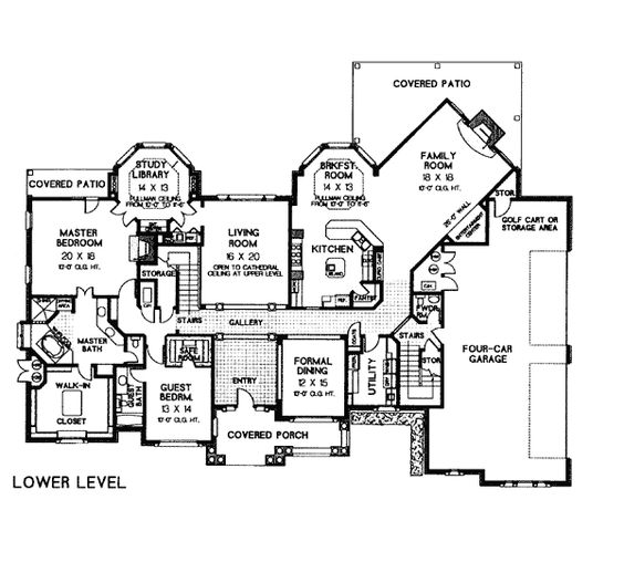 European French Country Tudor Victorian House Plan 66026