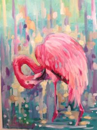 Flamingo art flamingo giclee flamingo canvas by ...