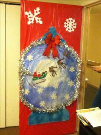 Snow globe- Christmas door decorating | Doors | Pinterest ...
