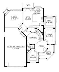 house plans with circular staircase | Print this floor ...