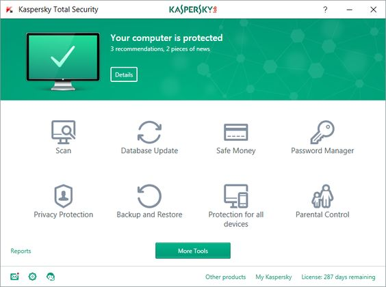 Kaspersky Total Security Screenshot