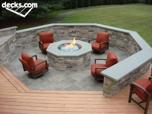Fire Pit Built Into The Deck For My House Pinterest