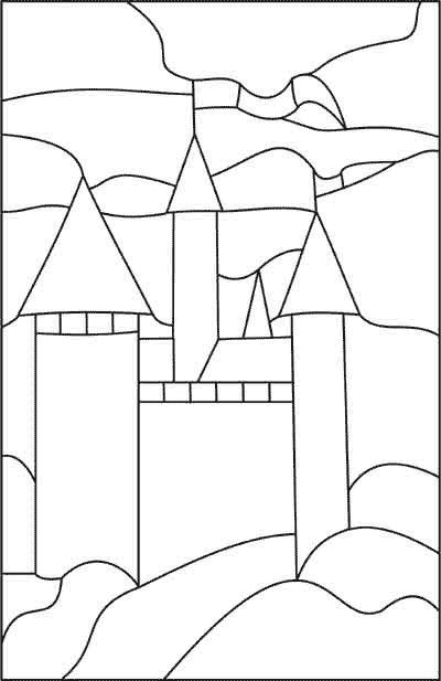 Weeks 16-17: Print enlarged castle pattern; transfer to