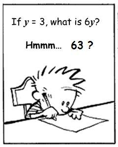 Activity for Algebra misconceptions. exzuberant: If y = 3