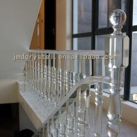 Crystal Glass Stairs Railings Staircase Designs Indoor