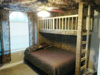 Camouflage bedroom with loft