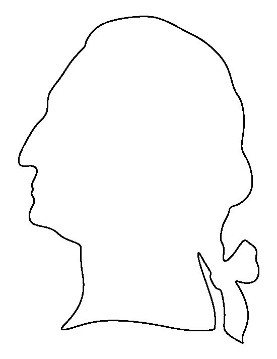 George Washington pattern. Use the printable outline for