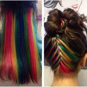 rainbow hair cuts