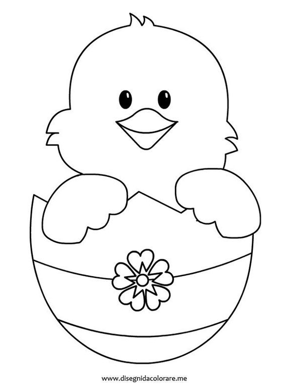 Easter chick, Coloring pages and Coloring on Pinterest