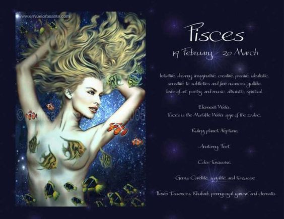 PISCES QUICK FACTS Symbol Fish Element Water Ruling