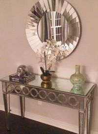 Our Sophie Mirrored Console Table makes this entryway by ...