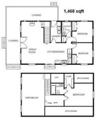 Country Classic Cabin w/Loft 24x40 Plans Package ...
