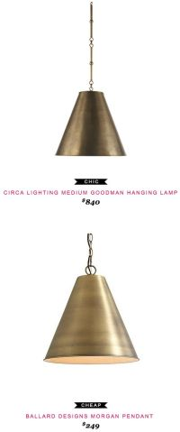 CIRCA LIGHTING MEDIUM GOODMAN HANGING LAMP $840 -vs ...