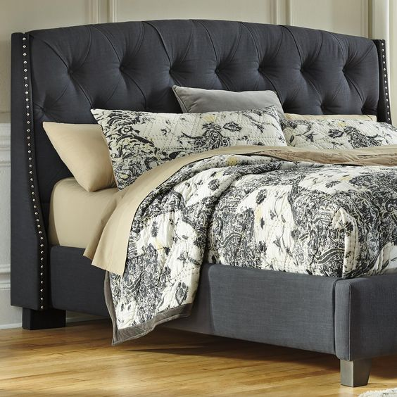 Queen Beds Headboards And Upholstered Headboards On Pinterest