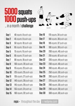 Nine different 30-day challenges. Think I'll start with