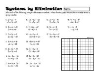 Systems of Linear Equations by Elimination from DawnMBrown ...