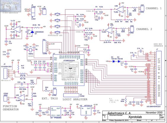 Schematic Diagram: Mixed Signal Oscilloscope Xprotolab On