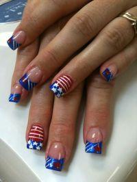 Patriotic nail, Nails and Nail art designs on Pinterest