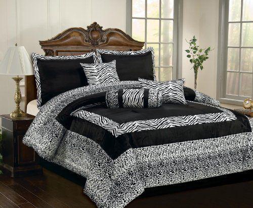 Black And White Cheetah Bedding
