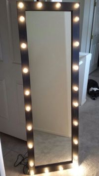 Full length lighted vanity mirror by Kateyedesigns on Etsy