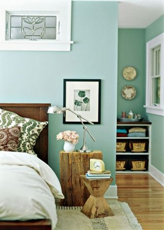 sea green and wood