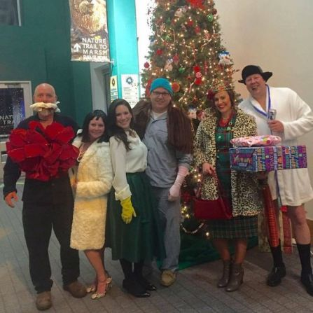 National Lampoons Christmas Vacation. Mr. And Mrs. Shirley, Christmas Eve Ellen Griswold, Attic Clark Griswold, Aunt Bethany, Cousin Eddie costumes.: