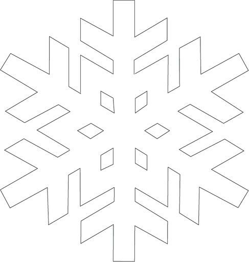 Snowflake template, Snowflakes and Templates on Pinterest