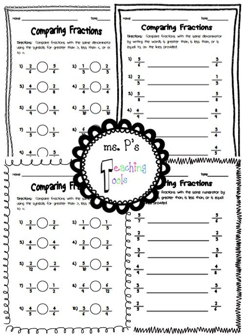 Fractions, Worksheets and Mornings on Pinterest