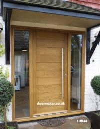 contemporary front door with sidelights porch pillars ...