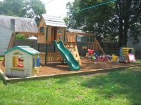 Small backyard landscaping ideas for kids with playground ...