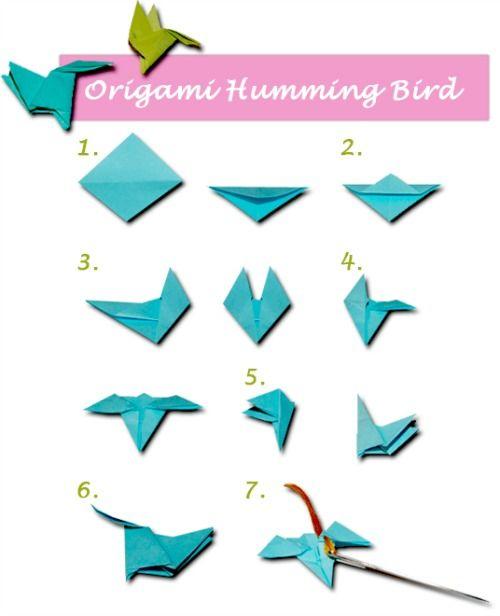Origami Hummingbird Easy Origami Tutorial Lets Make It