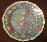 Vintage Royal Doulton China Decorative Plate Chintz Blue