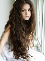 long dark brown wavy hair - google