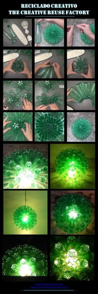 Bottle lamps, Recycled bottles and Lamps on Pinterest
