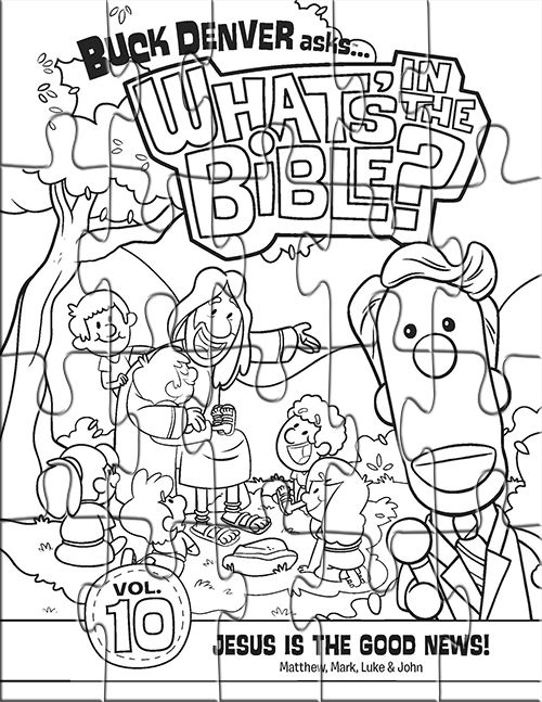 Kids coloring page puzzle from What's in the Bible