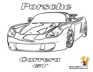 Car Coloring of Porsche Carrera at http://www.yescoloring