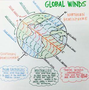 Global Winds Anchor Chart (Polar Easterlies, Westerlies