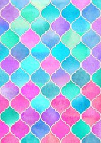 Bright Moroccan Morning - pretty pastel color pattern Art ...