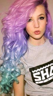 turquoise hair lavender