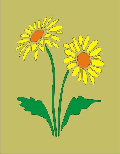 sunflower stencil creative grooming