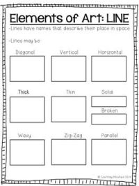 Elements of Art Notes and Worksheets