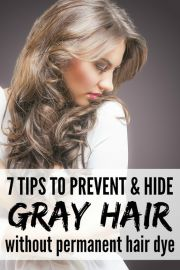 preventing and hiding gray hair