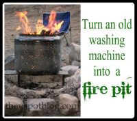 Turn your old washing machine into a fire pit | Fire pits ...