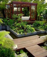 modern outdoor bath | My dream house | Pinterest | Gardens ...