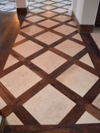 Basketweave Tile And Wood Floor Design, Pictures, Remodel