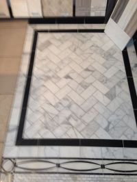 Marble tile floor with black border | Stone/Tile floors ...